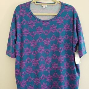 Lularoe Small Geometric Irma Tunic Top